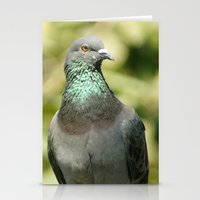 pigeon Stationery Cards featuring Pigeon by Vishal Wadhwani