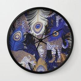 matthew williamson leopardo Wall Clock
