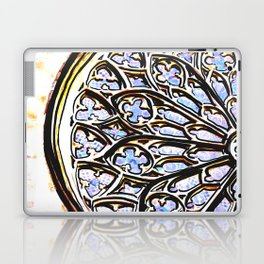 Gothic Rose Drawing Cathedral Barcelona Laptop & iPad Skin