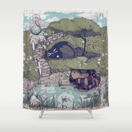 Spirited among the Dragonflies Shower Curtain