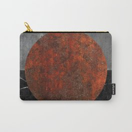 Abstract - Marble, Concrete, and Rusted Iron II Carry-All Pouch