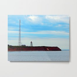 Lighthouse and Tower on the Point Metal Print