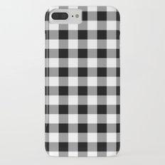 Gingham (Black/White) Slim Case iPhone 7 Plus