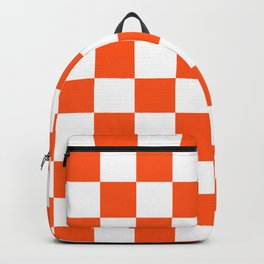 Cheerful Orange Checkerboard Backpack