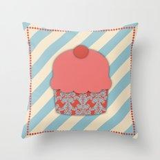 Cupcake 1 Throw Pillow