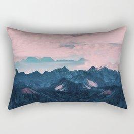 Pastel mountain mood Rectangular Pillow