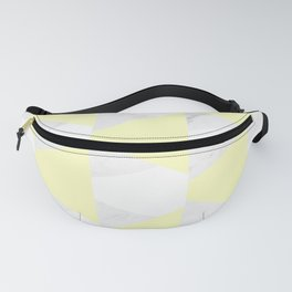 Yellow White Marble Triangles Fanny Pack
