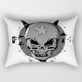 Skull black and white Rectangular Pillow