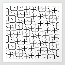 kaskada (white) Art Print