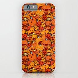 Halloween pumpkin pattern iPhone Case