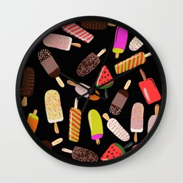 Take your pick of ice cream on a stick Wall Clock