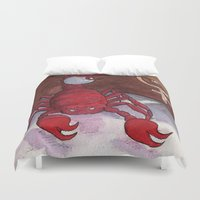 scorpio Duvet Covers featuring Scorpio by Cecilia M Creations