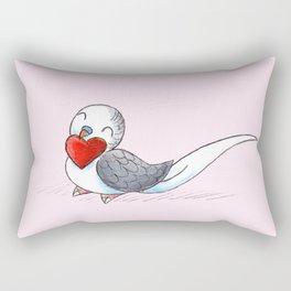 Little Budgie Heart Rectangular Pillow