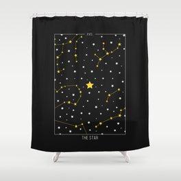 The Star - Tarot Illustration Shower Curtain