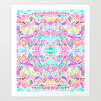 ikat Art Prints featuring ikat by Erin Anne Designs