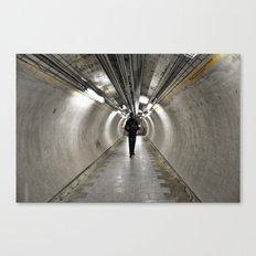 IN A LONDON UNDERGROUND TUNNEL Canvas Print