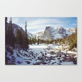Winter in the Rockies Canvas Print