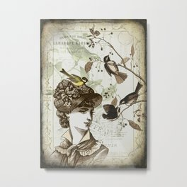 The Hat Metal Print