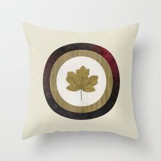 Leaf Space Throw Pillow