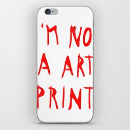 don´t buy me iPhone Skin