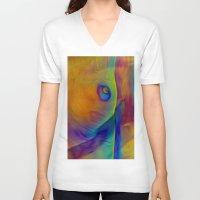 landscape V-neck T-shirts featuring Landscape by Stephen Linhart