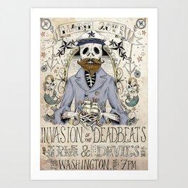 Deadbeats Rockabilly Poster Art Print