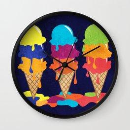 Colorful Ice Cream  Wall Clock