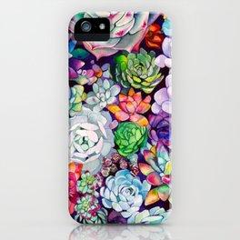 succulent salad iPhone Case