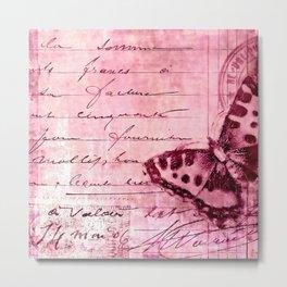 pink postage Metal Print