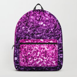Purple Pink Ombre glitter sparkles Backpack