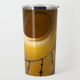 Brown and golden spiral staircase Travel Mug