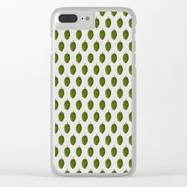 Hops Light Gray Pattern Clear iPhone Case