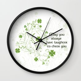 St. Patrick's Day Irish Blessing Wall Clock