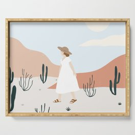 desert wandering Serving Tray