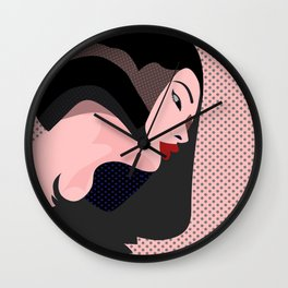 A red-haired woman2 Wall Clock