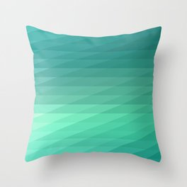 Fig. 043 Mint Green Geometric Diagonal Stripes Throw Pillow