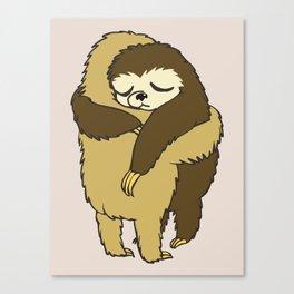 Sloth Hugs Canvas Print