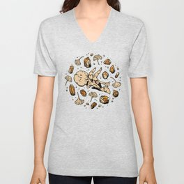 Triceratops Rocks! | Citrine Quartz Unisex V-Neck