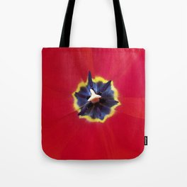 Seeing red (at tulip time) Tote Bag