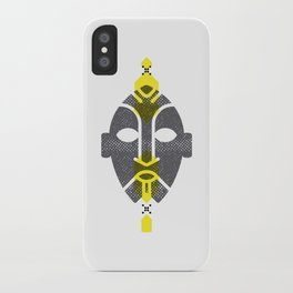 African Mask Yellow iPhone Case