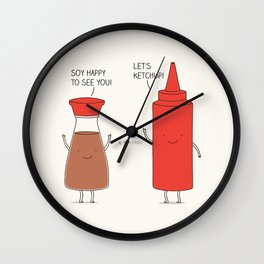 friendly sauces Wall Clock