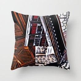 Abstract 50 #7 Throw Pillow