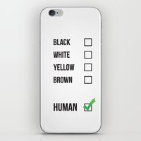 human iPhone & iPod Skins featuring Human by Evie Chong