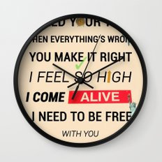 I Need Your Love ; Ellie Goulding feat. Calvin Harris Wall Clock