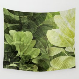 """""""Greenery Leaves at the Spring Garden"""" Wall Tapestry"""