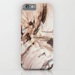 Abstract Beige Art iPhone Case