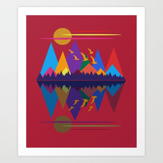 Mountain Scene #9 Art Print