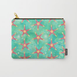 Watercolor Starfish Mandalas Carry-All Pouch