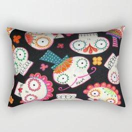 Sugar Skulls and Flowers Rectangular Pillow