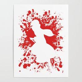 Anime Paint Splatter Inspired Shirt Poster